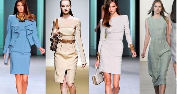 Стильные и модные платья футляры 2012